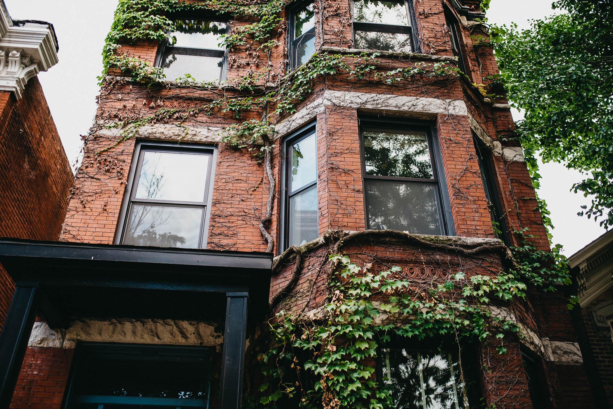 Three story brick condo in North Chicago