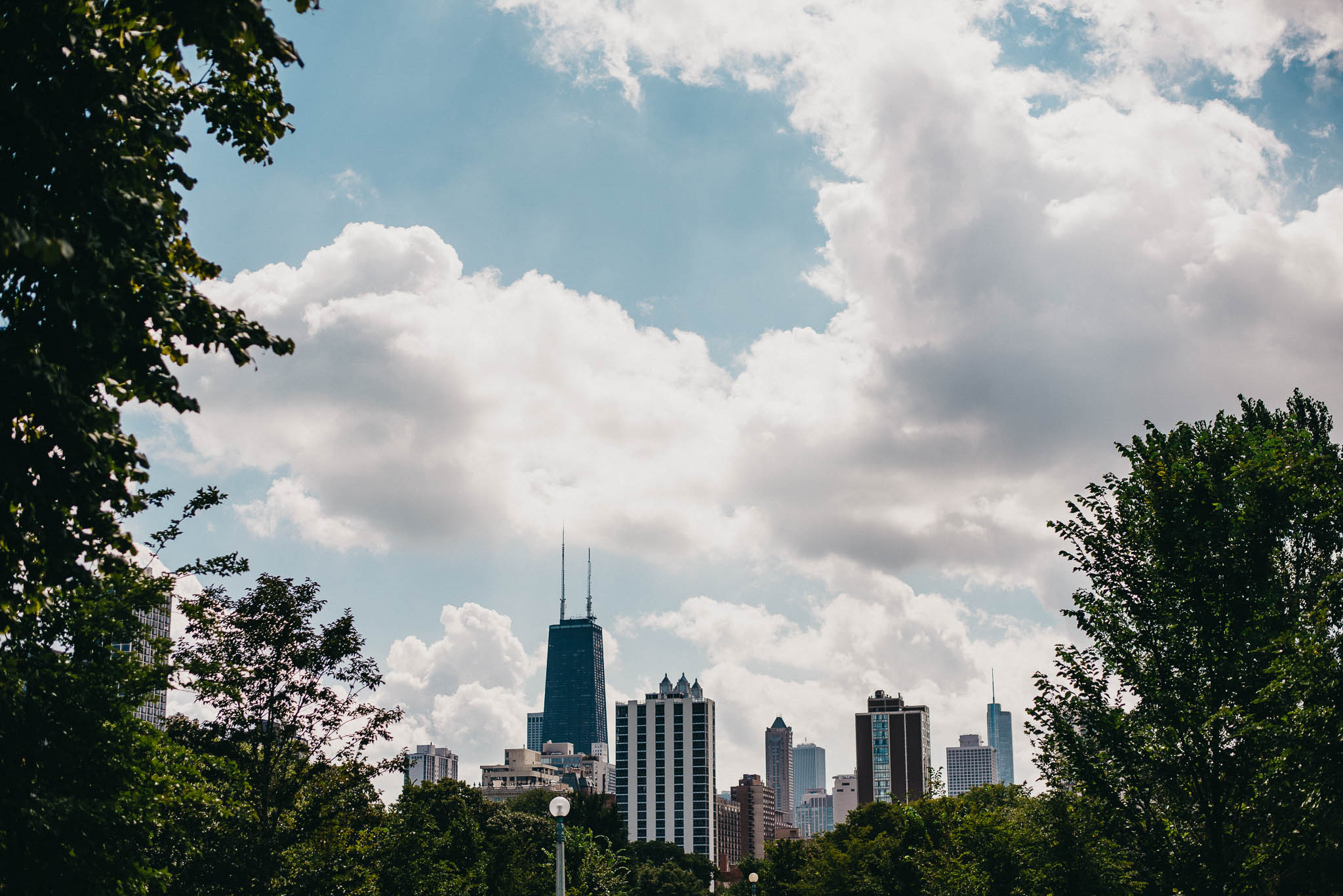 Chicago city skyline from North Chicago