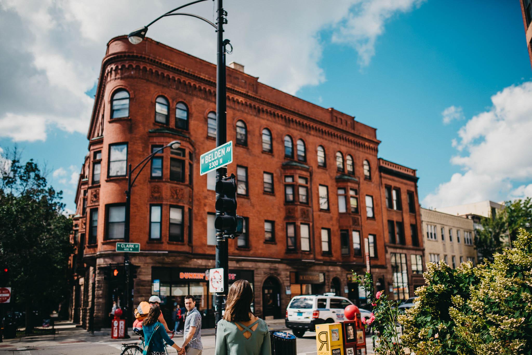 Photo of street corner in north Chicago