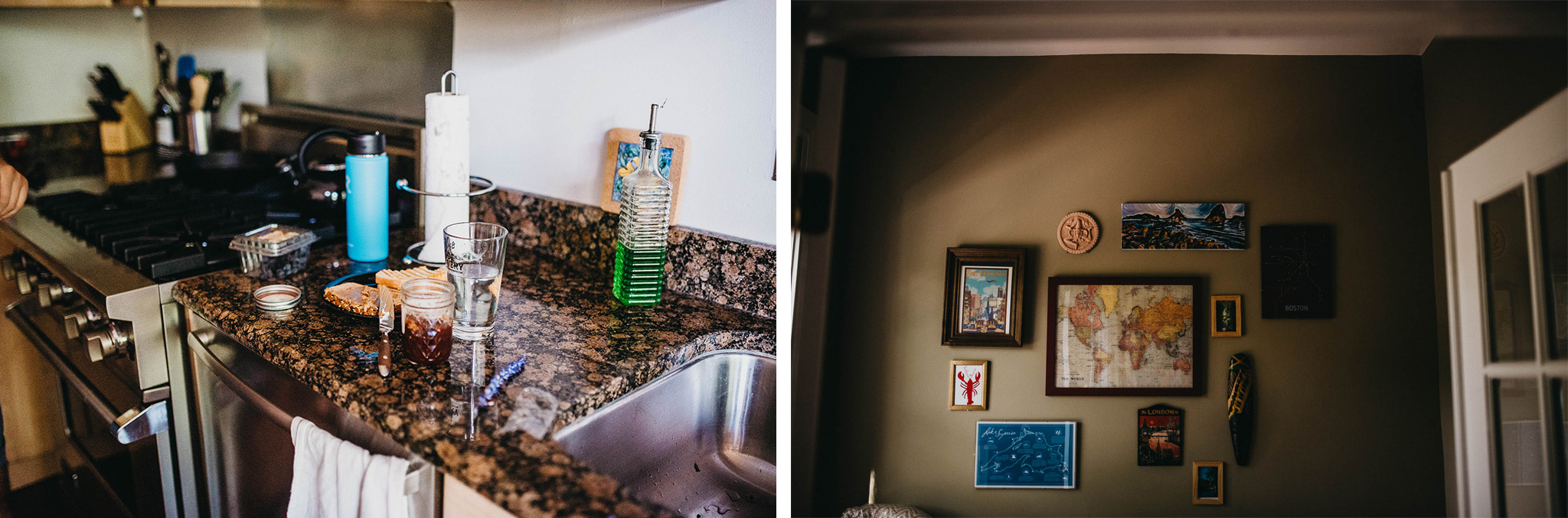 Decorations in engaged couples home