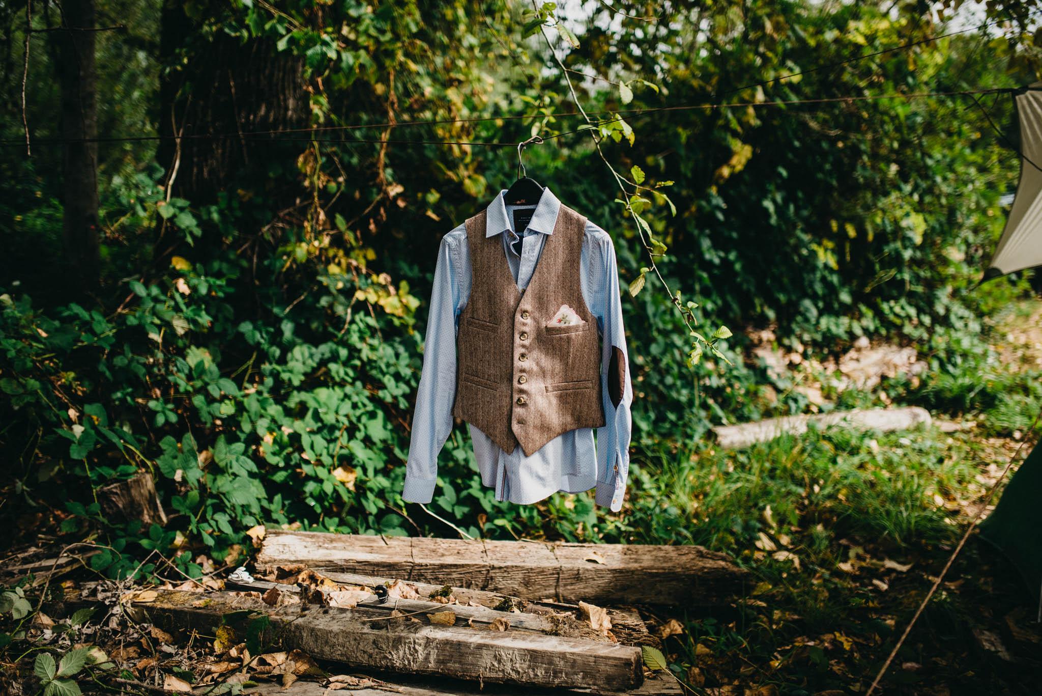 grooms attire on farm