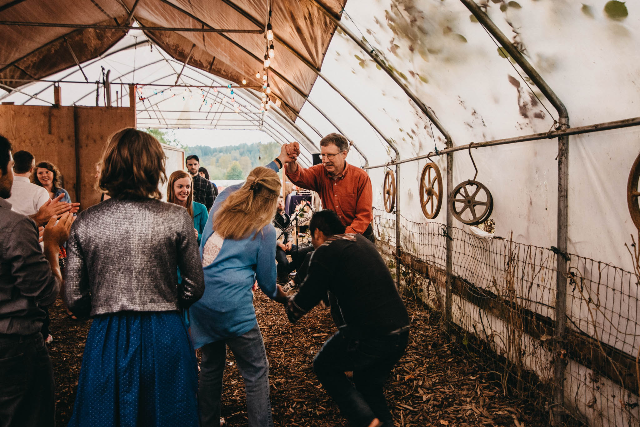 farm wedding square dance